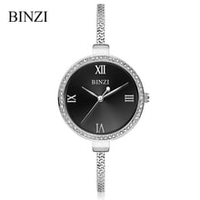 BINZI 2019 Ladies Gold Watch Luxury Brand Crystal Women Watches Bracelet Watch Female Clock Quartz Wristwatch Relogio Feminino