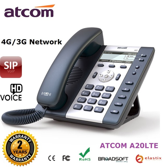 10pcs/lot 4G VoIP SIP Phone with 6 SIP accounts 4G (LTE) 3G entry-level VoLTE IP telephone