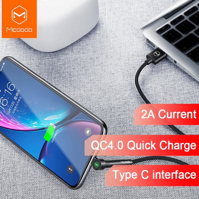 Mcdodo USB Type C Cable with Phone Holder Quick Charge 4.0 Fast Charging for Xiaomi Mi 8 Pro A2 Huawei Samsung Cable USB Type C