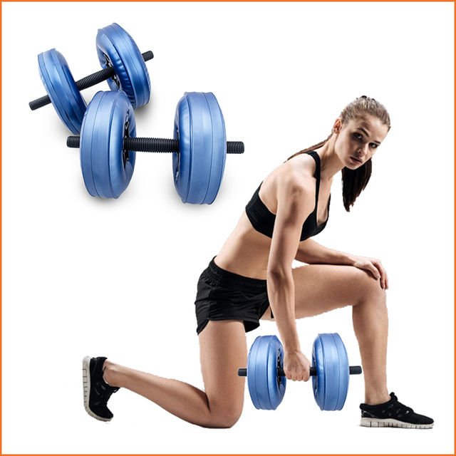 HOT Free shipping Adjustable Water filled dumbbell fittness gym equipment portable slimming muscle training CE ROHS certificated