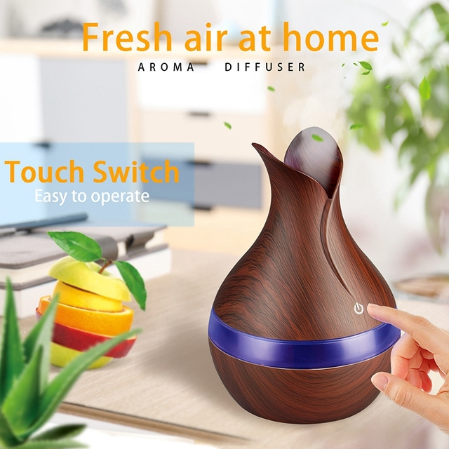 300Ml Mini Usb Air Humidifier Electric Aroma Diffuser Aromatherapy Essential Oil Cool Mist Maker 7 Color Light