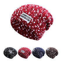 Snowflake Mix Color Warm Winter Hats For Women Men Skullies Beanies Knitted Hat Female Gorros