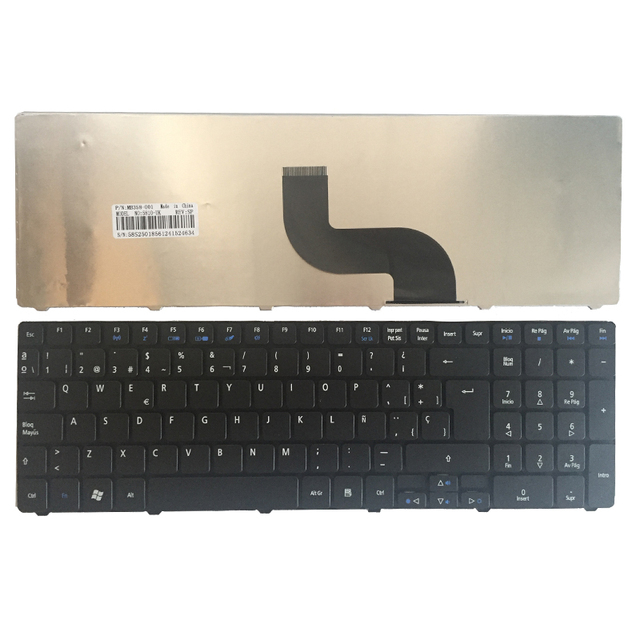 Spanish laptop Keyboard For Packard Bell Easynote TK37 TK81 TK83 TK85 TK36 TX86 LX86 TK87 TM05 TM80 TM81 TM97 NEW91 SP Black