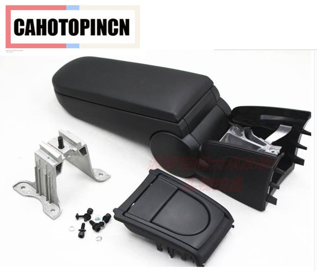 Armrests box For Volkswagen VW Polo  with Cup holders leather or Fabric storage case console black color new design 2011 - 2016