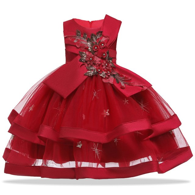 Girls Princess Tutu Dress Sequins Flower Toddler Kids Dresses For Girls Party Dress Children Wedding Dress Vestido Infantil