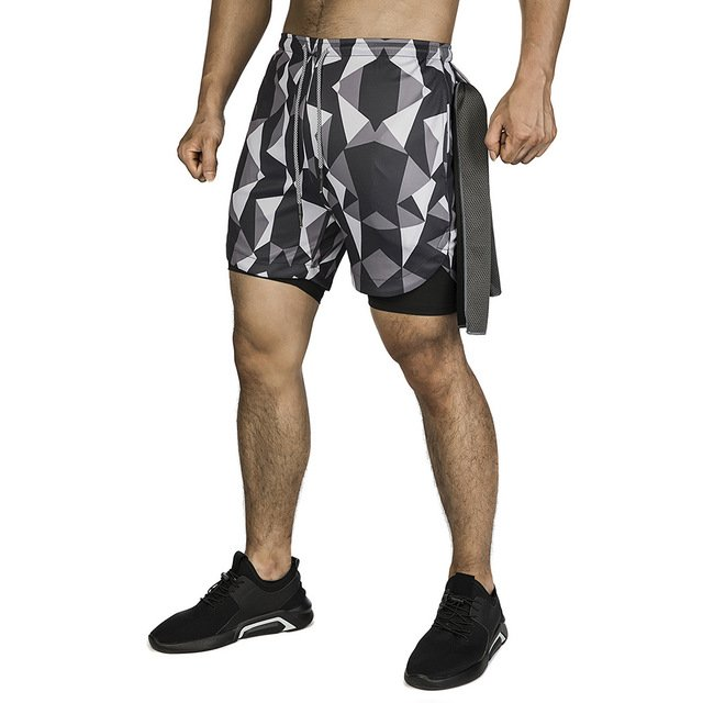 2020 Camo Running Shorts Men 2 In 1 Double Deck Quick Dry Gym Sport Shorts Fitness Jogging Workout Shorts Men Sports Short Pants Buy Inexpensively In The Online Store With Delivery Price