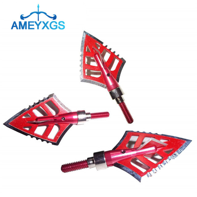 6/12Pcs 120 Grain Archery Broadheads 4 Blade Stainless Steel Arrowheads Hunting Screw Tips For Hunting Shooting Accessories