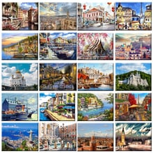 40x50cm DIY Framed Oil Painting By Numbers Landscape Pictures Canvas Painting For Living Room Wall Art Home Decor