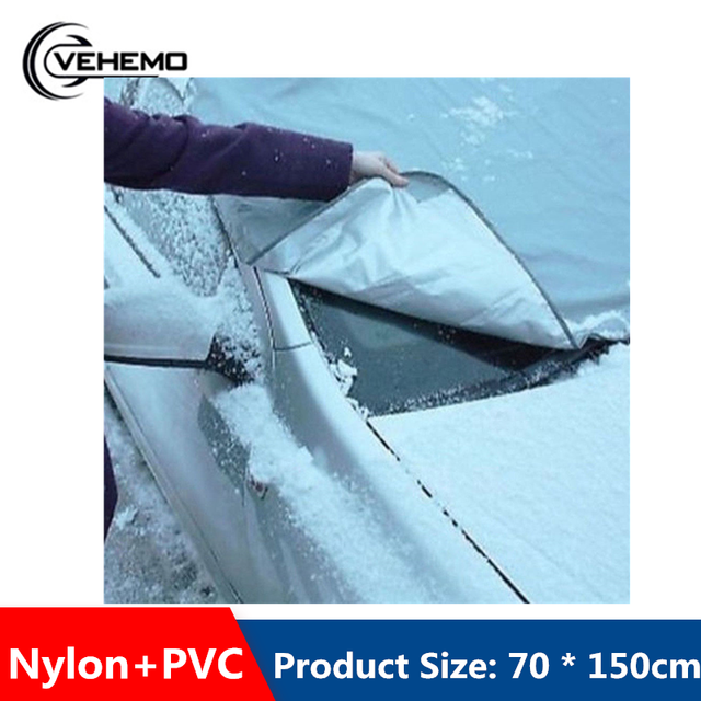 70*150cm Front Window Car Windshield Snow Cover SunShade Cover Interior Accessories Anti-UV For Frost Ice In Winter