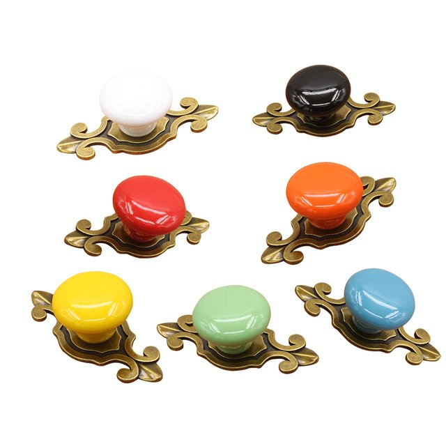 Decorative Pull Handle Furniture Knobs for Wardrobe Cupboard Drawer Jewelry Box Dressing Table Cabinet Knob Handle Knobs Pulls