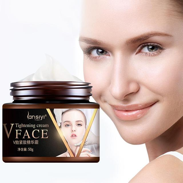 Slimming Tightening Face Cream Massage V Face Lifiting Shaping Thin Face Younger Skin Lift Firming Cream Care Tool U0W5