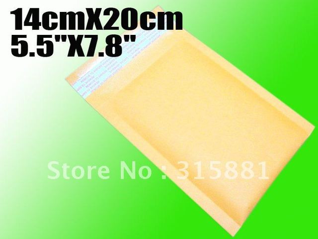 "Wholesale 5.5""X7.8"" 14cmX20cm  bubble envelope padded envelopes paper envelope bubble mailer bag 100pcs/lot"