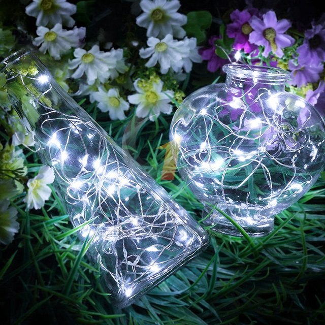2M Flexible Garland Fairy LED Light String Copper Wire CR2032 Battery Operated Decorative Light for Christmas Party Wedding