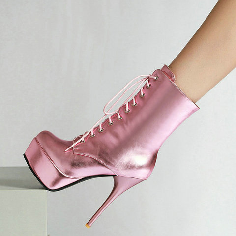 2019 Women Boots Fashion Zipper Martin Boots Sexy Super High Heel Ankle  Boots Ladies Round Toe Platform Autumn Winter Shoes Gold - Buy cheap in an  online store with delivery: price comparison,