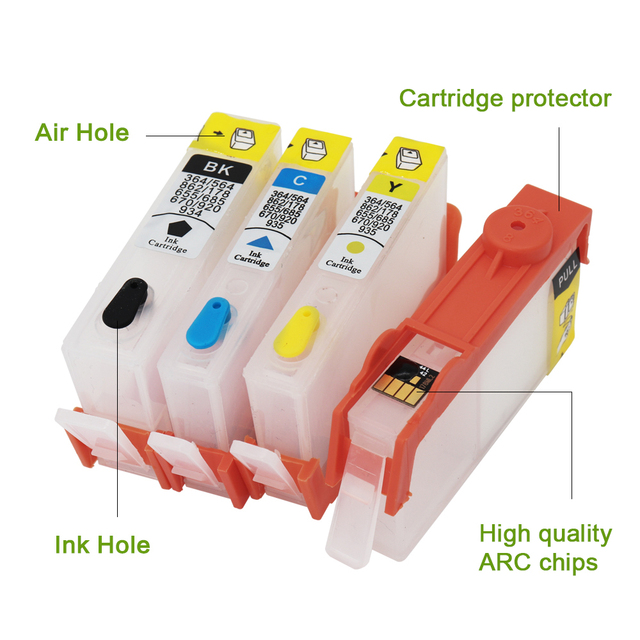 Refillable ink cartridge For HP 934 Ink Cartridge With Chip For HP 934 935 XL Cartridge For HP Pro 6230 6830 6812 6815 Printer