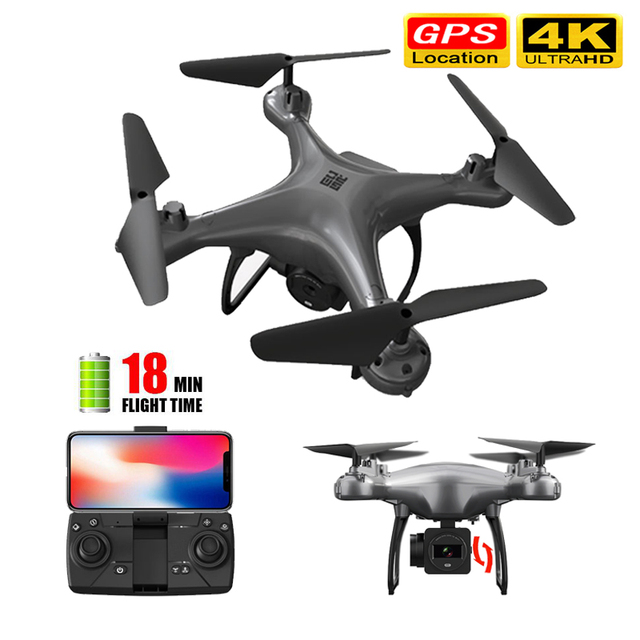 Drone 4k 5G WiFi RC Dron 18 mins Flight Time Lost Control Reture Selfie Quadcopter With Camera HD FPV Drone Profissional GPS