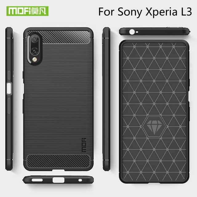 Mofi Luxury Armor Phone Case Cover Silicone Shell Cover For Sony Xperia L3 Protective Case For Sony Xperia L3 Back Cover Case