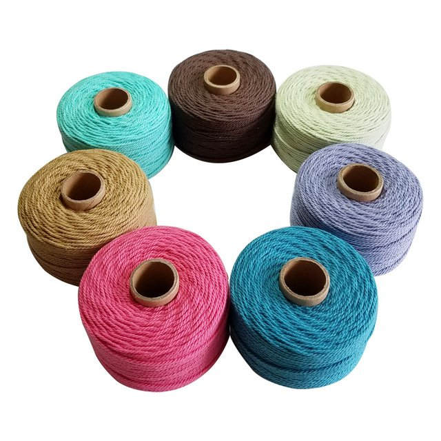 Wholesale 100% Cotton rope 80m/roll twine cord 10pcs/lot twisted cords