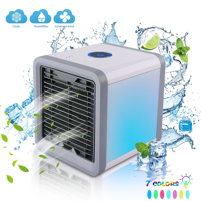 Portable Air Cooler Home Mini Air Conditioner Rechargeable Fan Desk Air Cooling