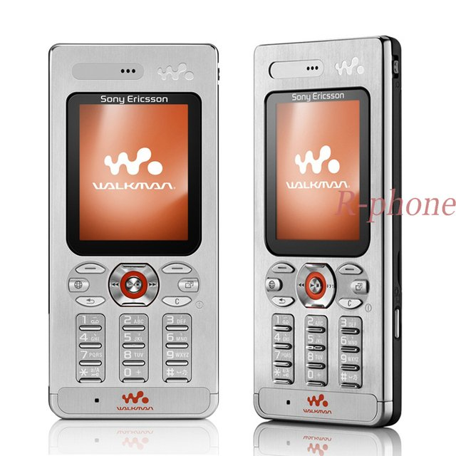 Original Sony Ericsson W880 W880i Cell Phones Unlocked Mobile Phone 3G Bluetooth MP3 Player & One Year warranty