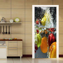 Pvc Self Adhesive Door Sticker 3d Stereo Fruit Wallpaper Kitchen Restaurant Waterproof Wall Door Sticker 3d Murals Home Poster Buy Cheap In An Online Store With Delivery Price Comparison Specifications Photos And