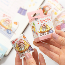 Girl's Holiday Series Washi Tape Cute Decorative Adhesive Tape Travel Masking Tape For Stickers Scrapbooking DIY Stationery Tape