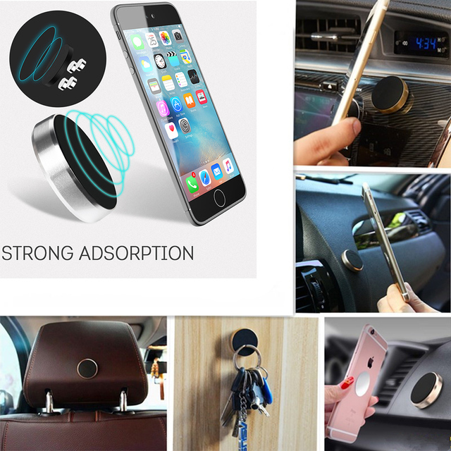 Car Phone Holder For Tablet Magnetic Mount Support Bracket Stick Wall Mobile Phone Stand For Iphone Samsung Huawei Xiaomi GPS