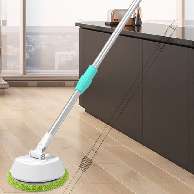 Cordless Electric Telescopic Cleaner Ultra Thin Fiber Cloth Wipe Floor Window Automatic Dehydration USB Charging Mop Sweeper