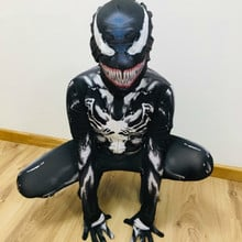 new 2019 Venom Symbiote Spiderman Costume Movie Venom Cosplay Black Zentai Suit Halloween Costumes For Men Adult kids boy