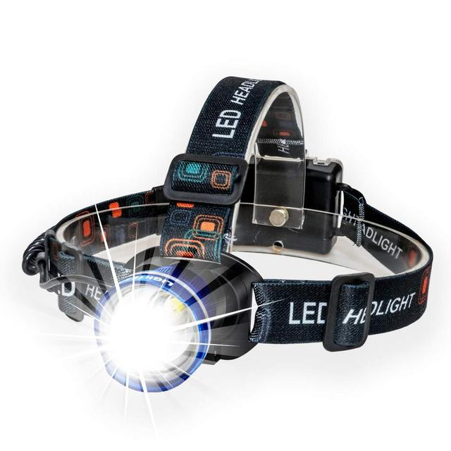 LED Headlamp Super Bright Headlight 3 Modes Zoomable Head Torch for Runing,Hiking,Camping,Fishing,Hunting