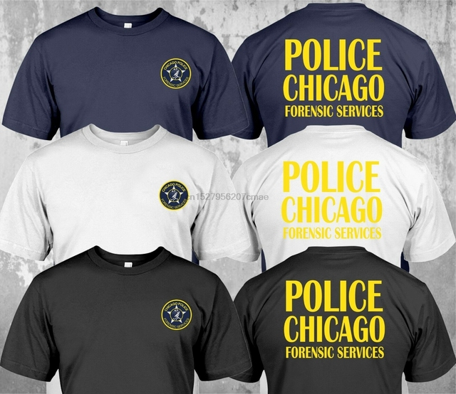 NEW Police Chicago Forensic Services Custom - T-Shirt