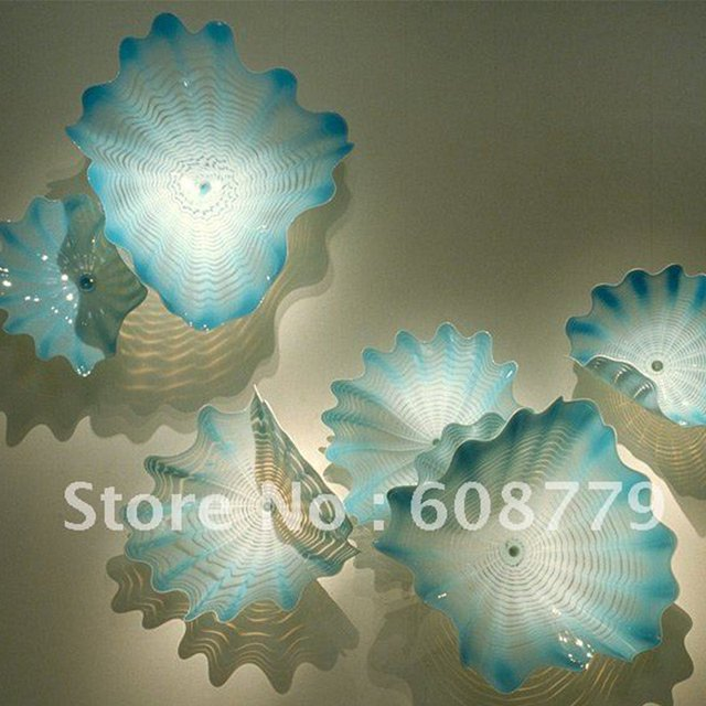 Elegant Villa Wall Decorative Ceiling Design Art Plates Glass Mosaic Clear Glass Plates for Gallery Room Light Customized