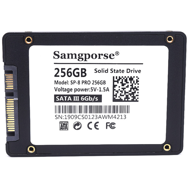 HY Samgporse SATA SSD 256GB Hard Drive 2.5 Hard Disk SSD SATA  Solid State Drive for Notebook Laptop Desktop fast than HDD