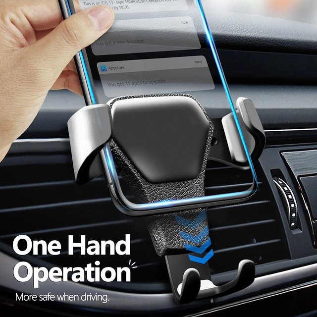 Universal Gravity Car Holder For Phone In Car Air Vent Clip Mount No Magnetic Mobile Phone Holder Cell Stand For iphone 11 7 XS