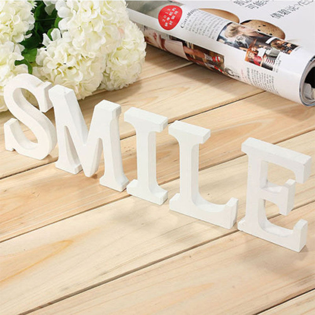 Creatively Wood Letter Figurines Miniatures Wooden Letters Alphabet Word Bridal Wedding Party Decoration Tool