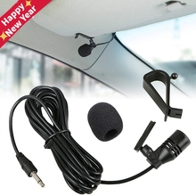 Professionals Car Audio Microphone 3.5mm Clip Jack Plug Mic Stereo Mini Wired External Microphone For Auto DVD Radio 3m Long