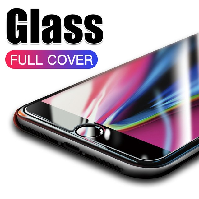Tempered Glass For iPhone X XS MAX XR 5 5S SE 5C Screen Protective Film For iPhone 6 6S 7 8 Plus X 11 Pro MAX Glass Protector