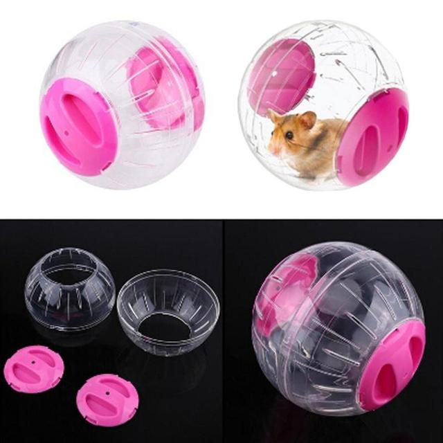Little Pet Running Ball Plastic Grounder Jogging Hamster Pet Small Accessories Hamster Supplies Exercise Toy Z0K6
