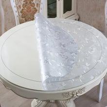1.0mm Round PVC Transparent Table Cover Tablecloth Protector Desk Pad Soft Glass Dining Heavy Duty Plastic Mat 1.0mm  3 Colors