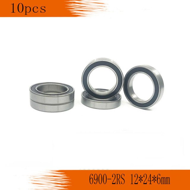 10pcs 6900-2RS Bearing ABEC-1  10x22x6 mm Metric Thin Section 6900 2RS Ball Bearings 6900RS 61900 2RS