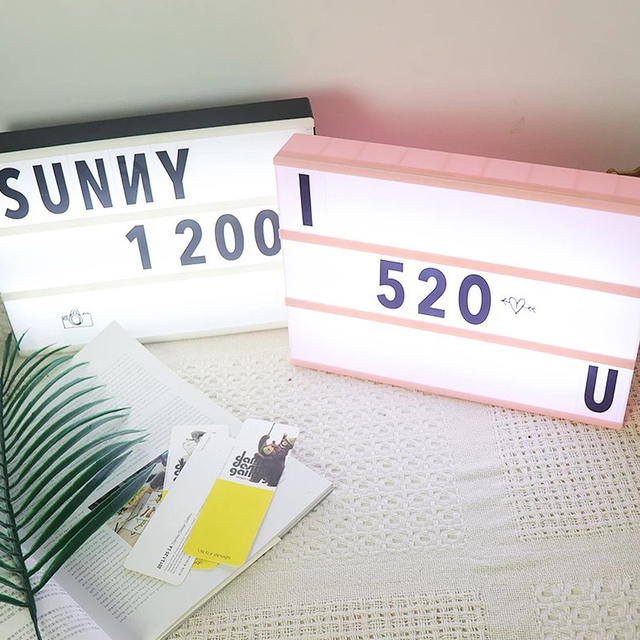 A4 Cinematic Lightbox wIith 99 Letters Illuminated Light Up Box Sign USB Powered Perfect Decorative Gift A4 Cinematic Lightbox