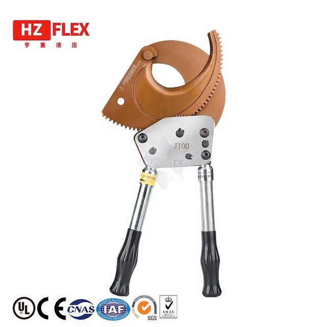 Portable Aluminum Copper Wire Cut Ratchet Wheel Style Ratcheting Cable Cutter