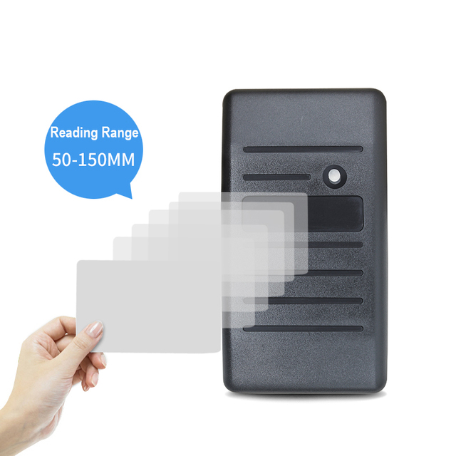 125khz rfid card reader waterproof wiegand 26 34 security RFID EM ID MF card access control reader