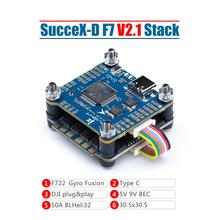 IFlight sucex-D F7 TwinG Stack с sucex-D F7 TwinG V2.1 FC/sucex 50A 2-6S BLHeli_32 4 в 1 ESC для DJI Air Unit FPV system