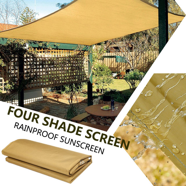 1PC Sun Shade Screen Square Waterproof Camp Travel Shade Canopy Gazebo Portable 3-4 People 190T Polyester Outdoors Camping Cloth