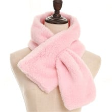 Autumn Winter Hijab Bufandas Ring Scarves Solid Fluffy Muffler for Coats Jackets Women Thick Warm Imitation Rabbit Fur Scarf