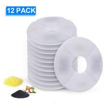 1/6/8/12pcs Dog Cat Water Fountain Filters Resin Active Carbon Replacement Filters for Cat Fountain Pet Automatic Water Fountain