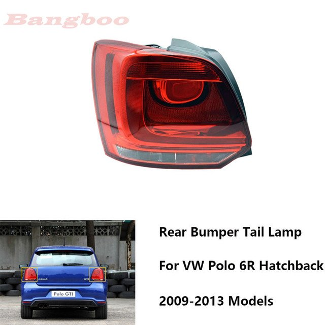 Car Rear Light Tail Light Tail Lamp For VW POLO Hatchback 2009 2007 2010 2011 2012 2013