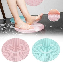 Silicone Bath Shower Back Brush Massager Bath Foot Brush Dead Skin Anti Skid Pad Bath Mats