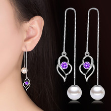 Nehzy 925 Sterling Silver New Jewelry New Woman Fashion Snowflake Hanging Style Exaggerated In The Long Female Drop Earrings Buy Cheap In An Online Store With Delivery Price Comparison Specifications Photos